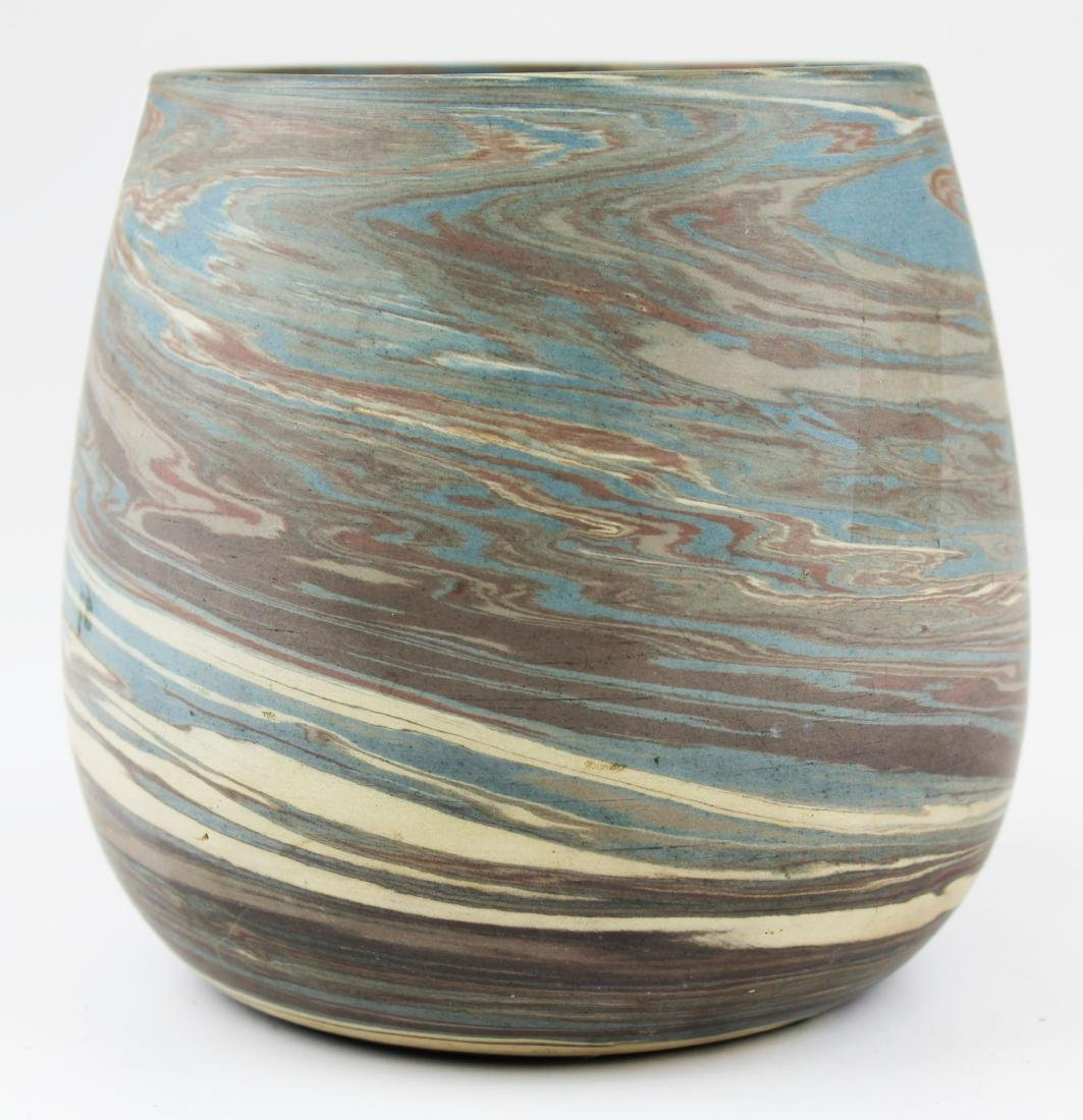 Niloak Mission swirl marbleized art pottery vase - 5