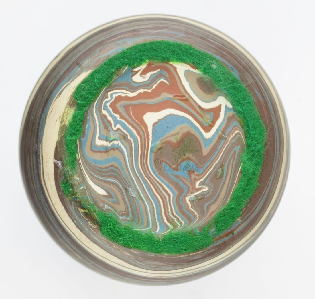 Niloak Mission swirl marbleized art pottery vase - 7