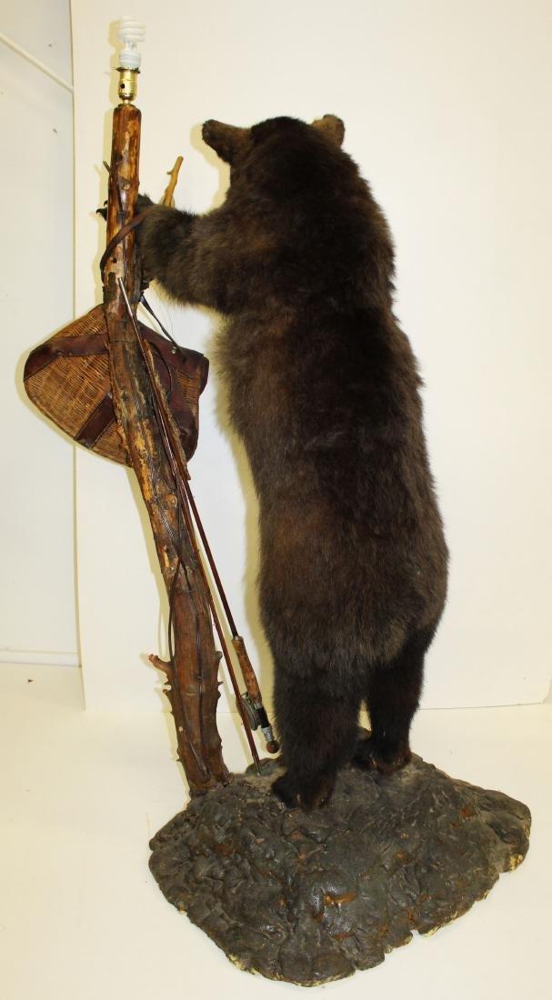 Standing bear taxidermy floor lamp - 4