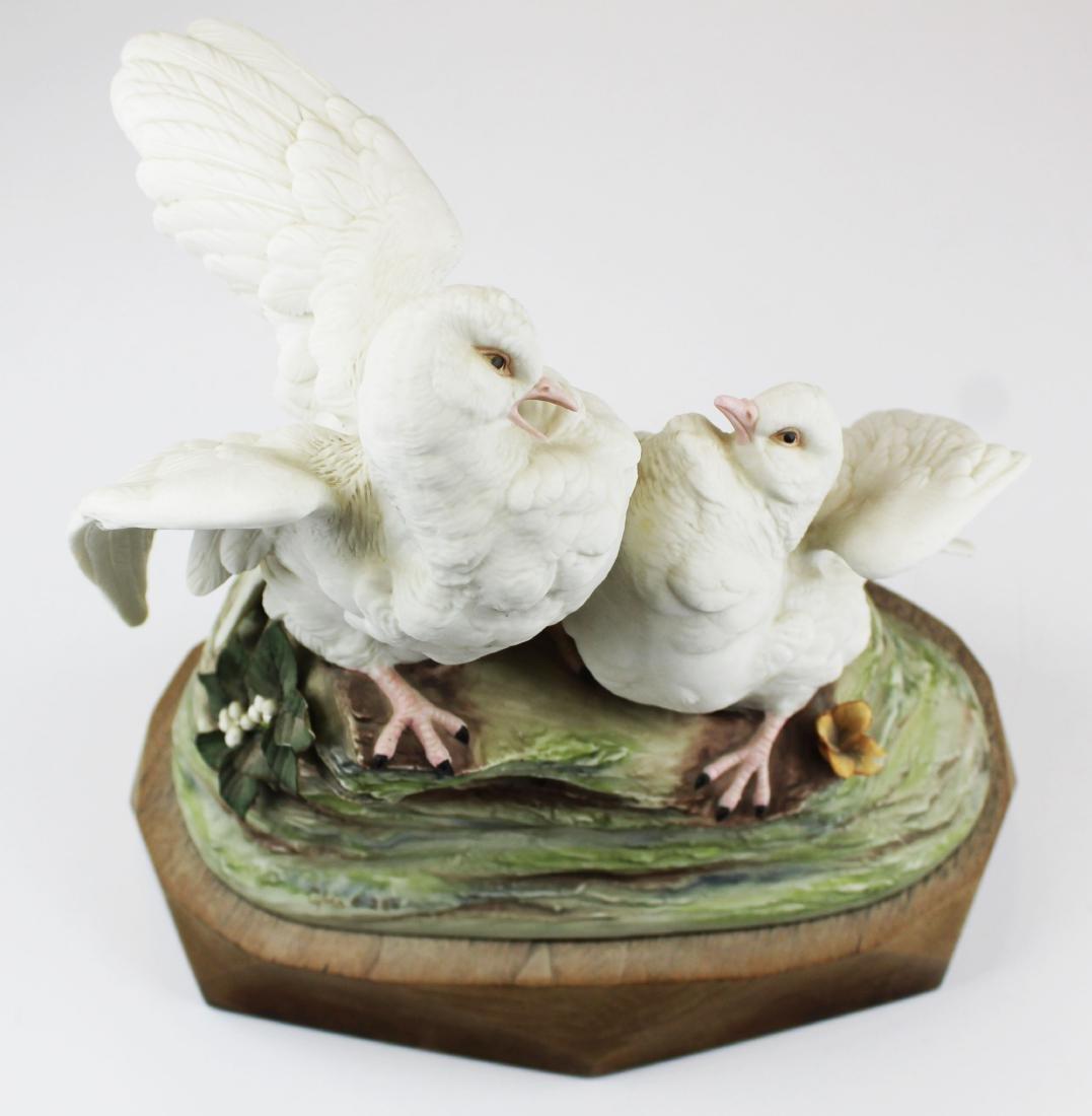 pair of Cybis porcelain white bird figurines - 2
