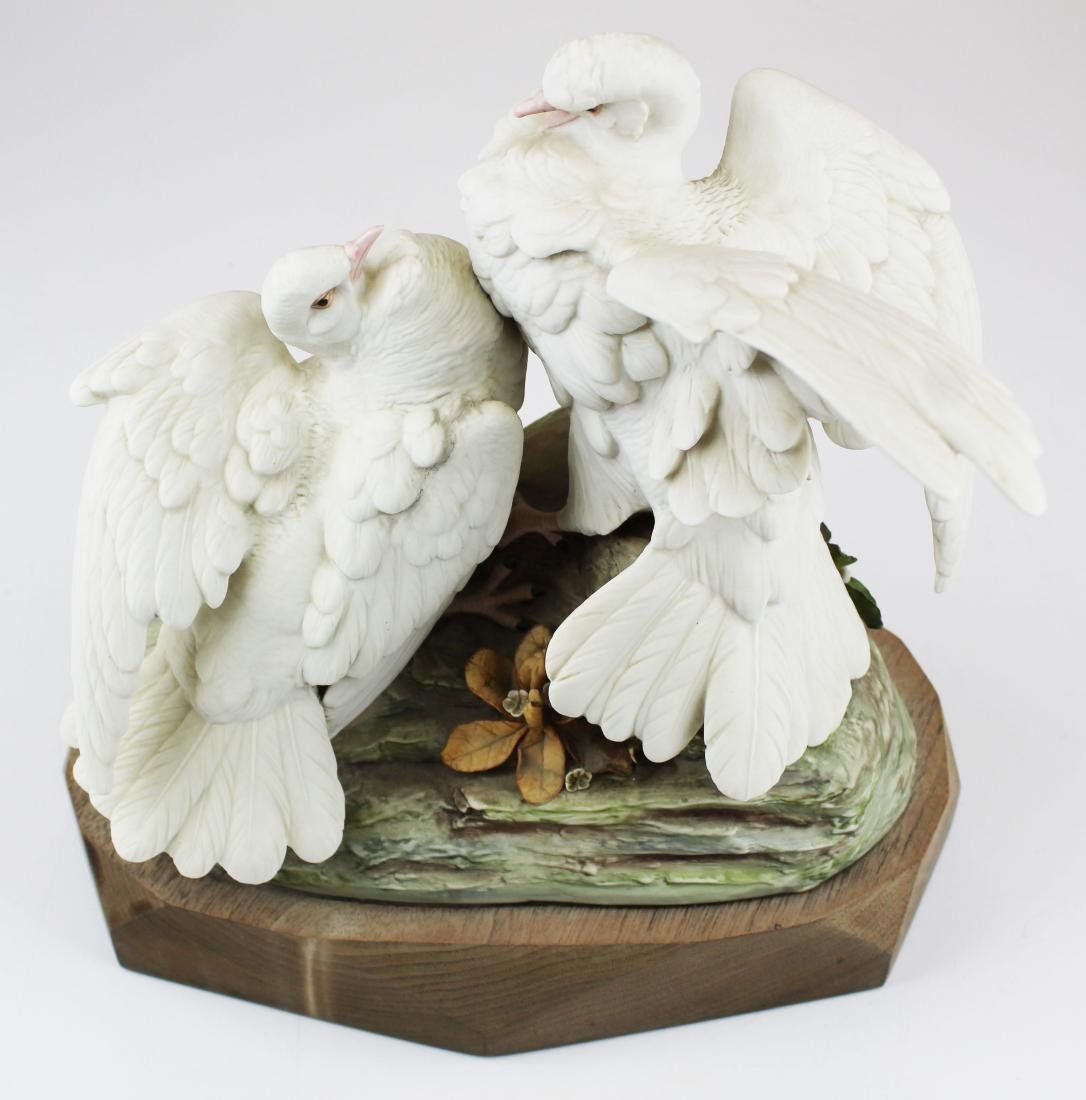 pair of Cybis porcelain white bird figurines - 3