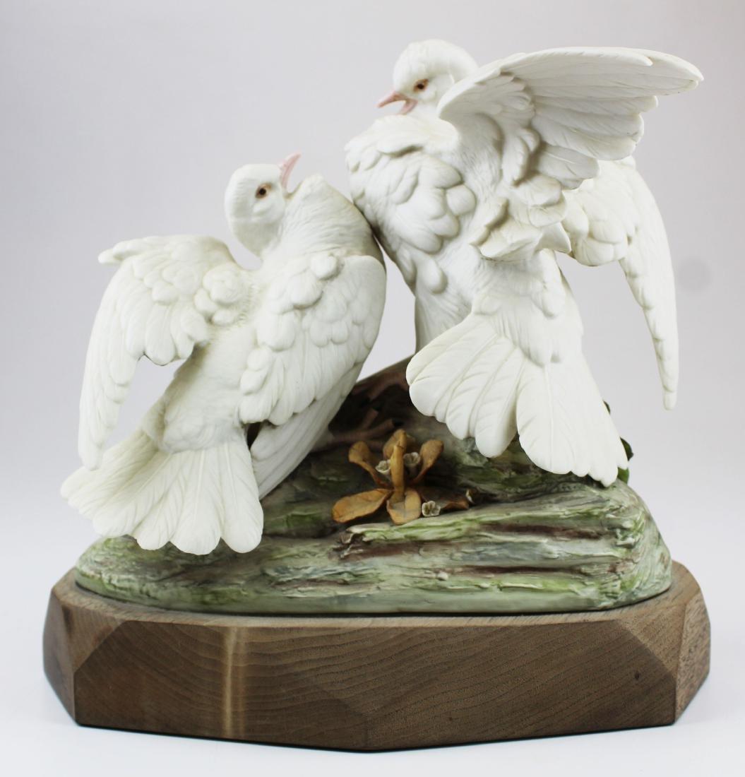 pair of Cybis porcelain white bird figurines - 4