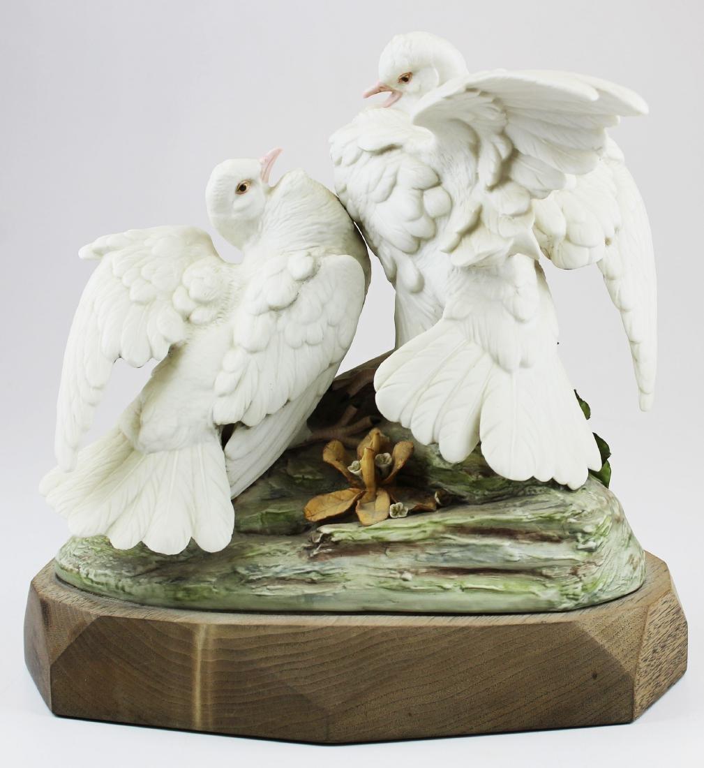 pair of Cybis porcelain white bird figurines - 5
