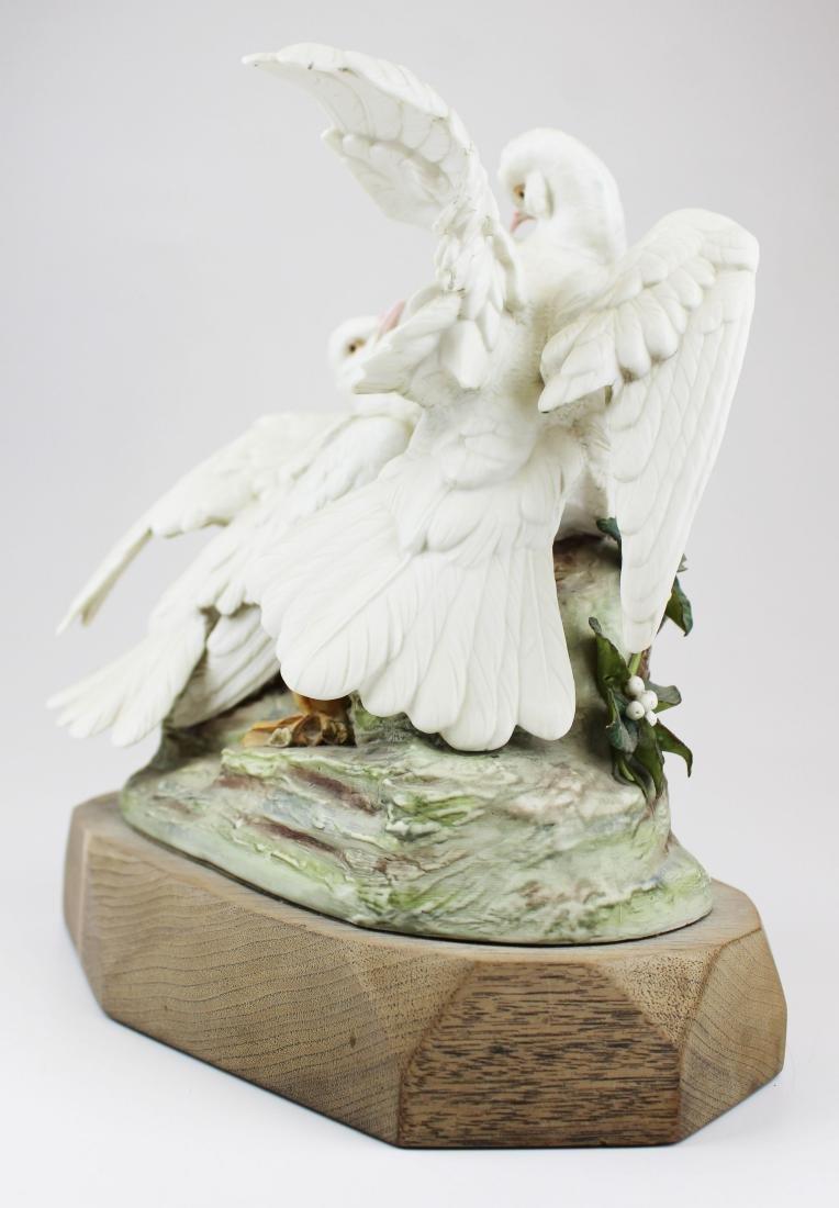 pair of Cybis porcelain white bird figurines - 6