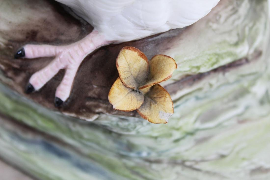 pair of Cybis porcelain white bird figurines - 9
