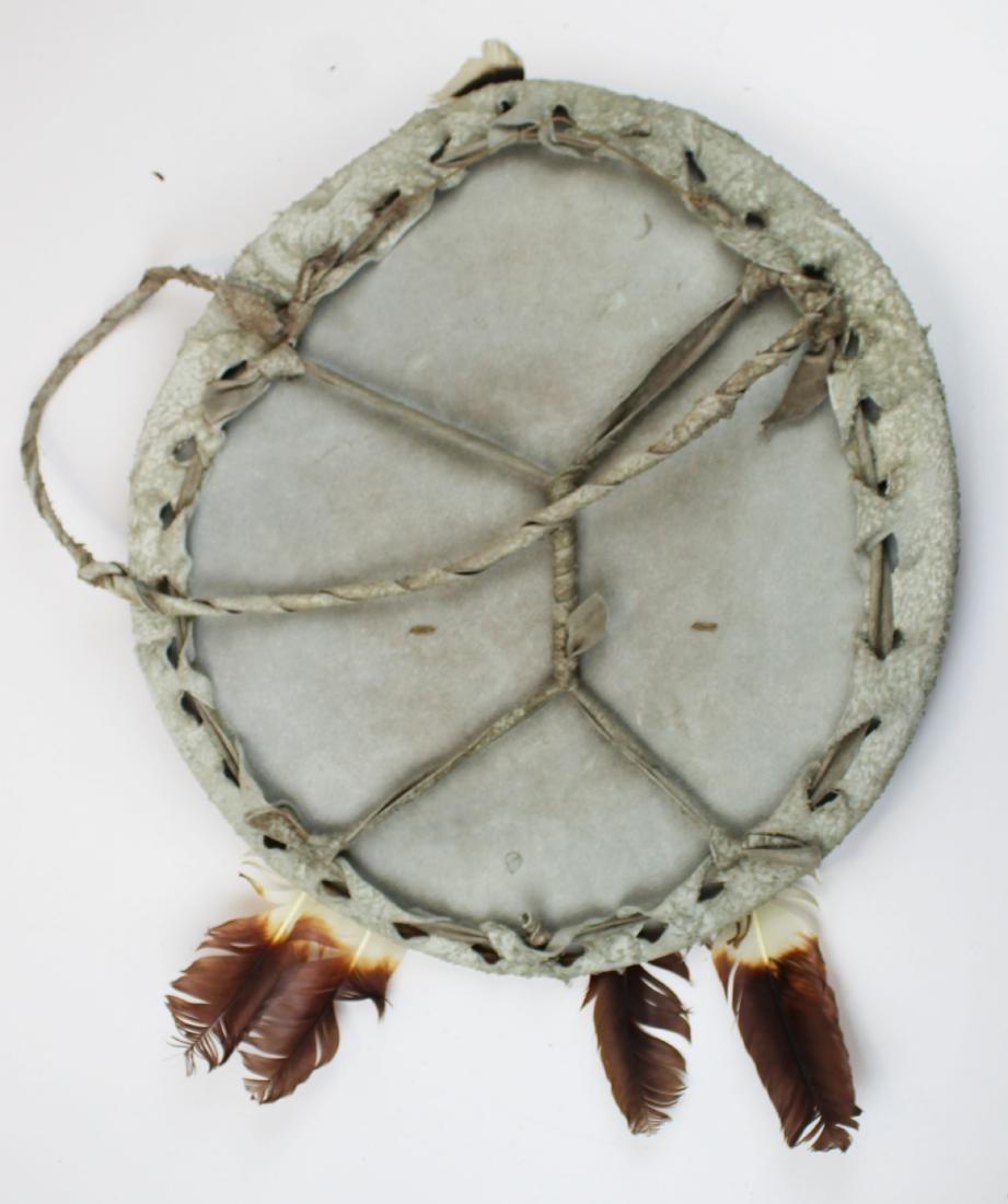 Native American painted hide shield - 2