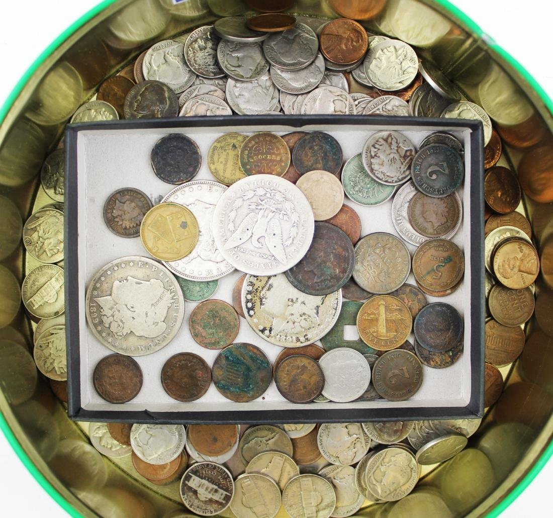 US coins including silver dollars, early coins