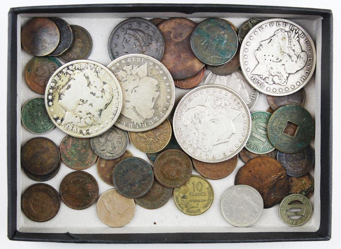 US coins including silver dollars, early coins - 3