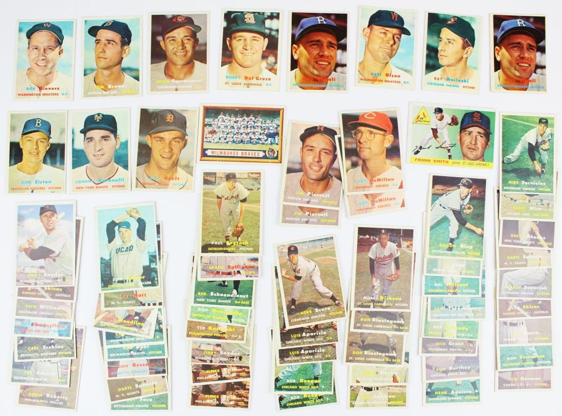 A group of 67 Topps baseball cards.