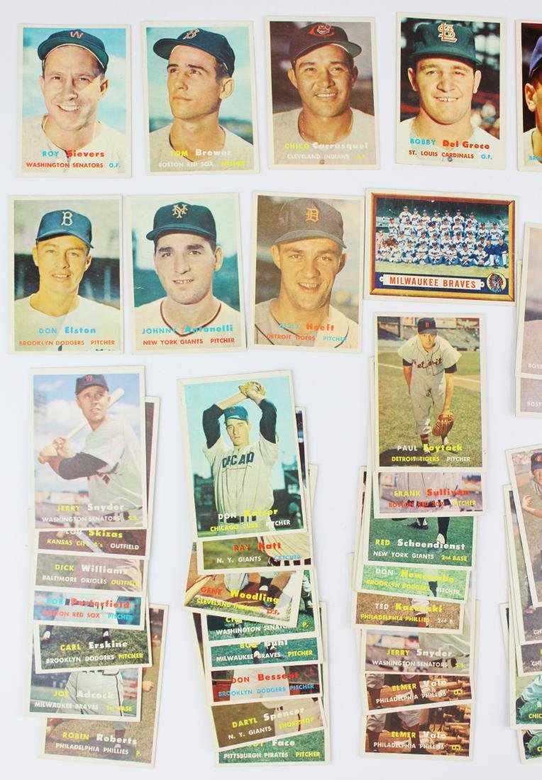 A group of 67 Topps baseball cards. - 2