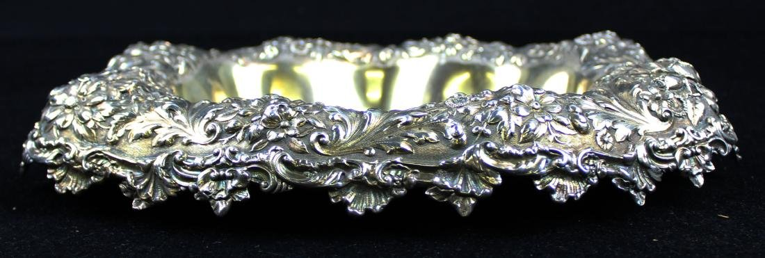 Gorham floral repousse sterling silver bowl - 2