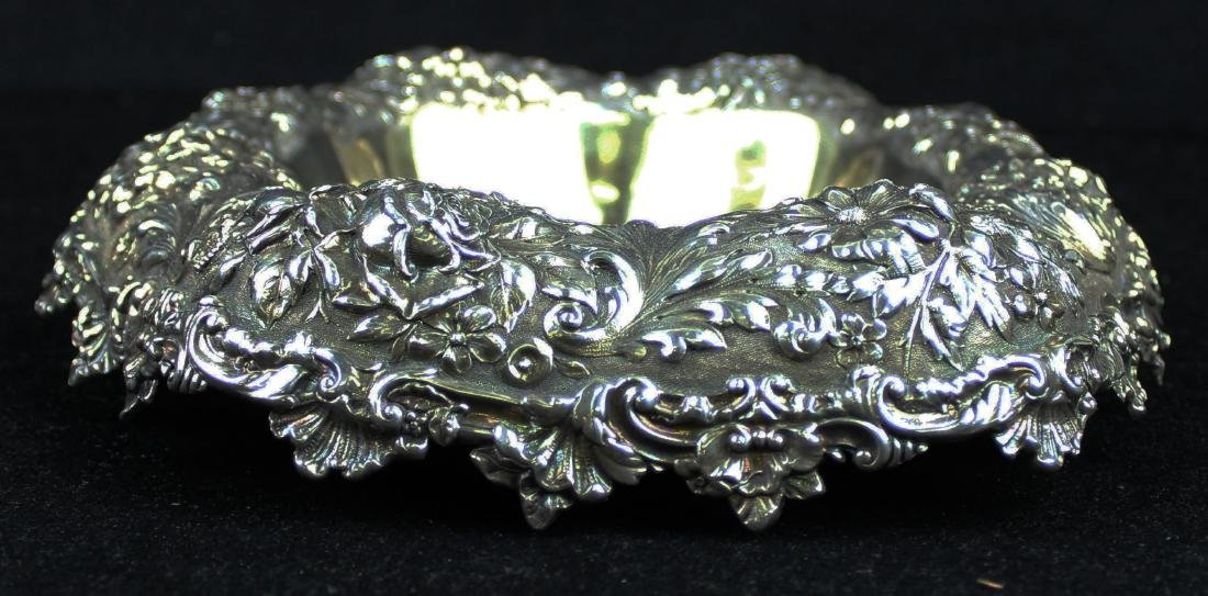 Gorham floral repousse sterling silver bowl - 4