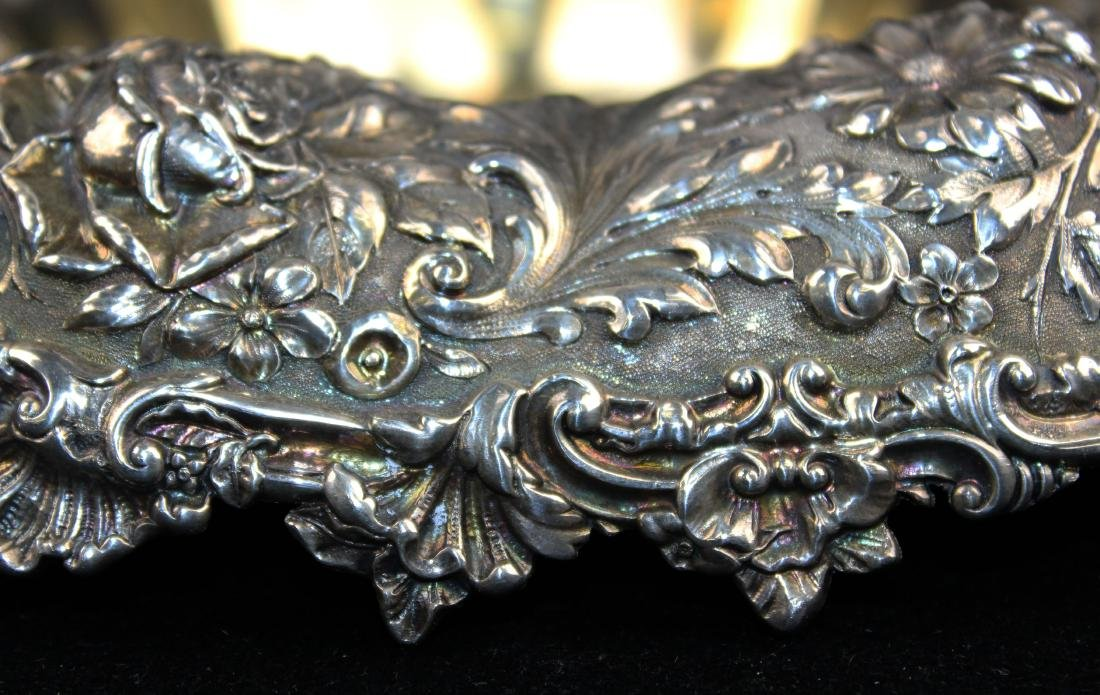 Gorham floral repousse sterling silver bowl - 5