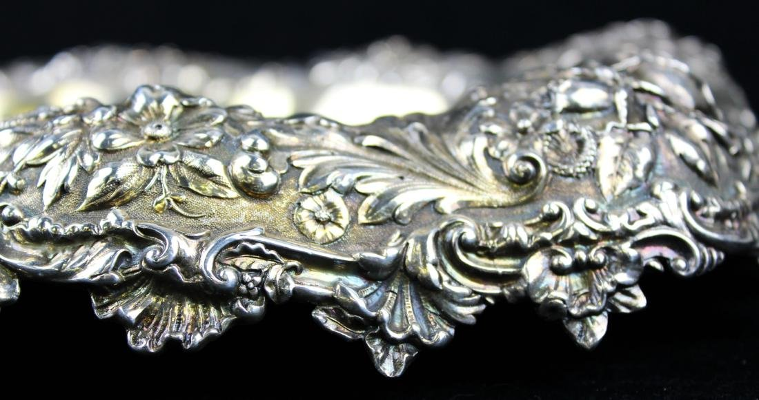 Gorham floral repousse sterling silver bowl - 7