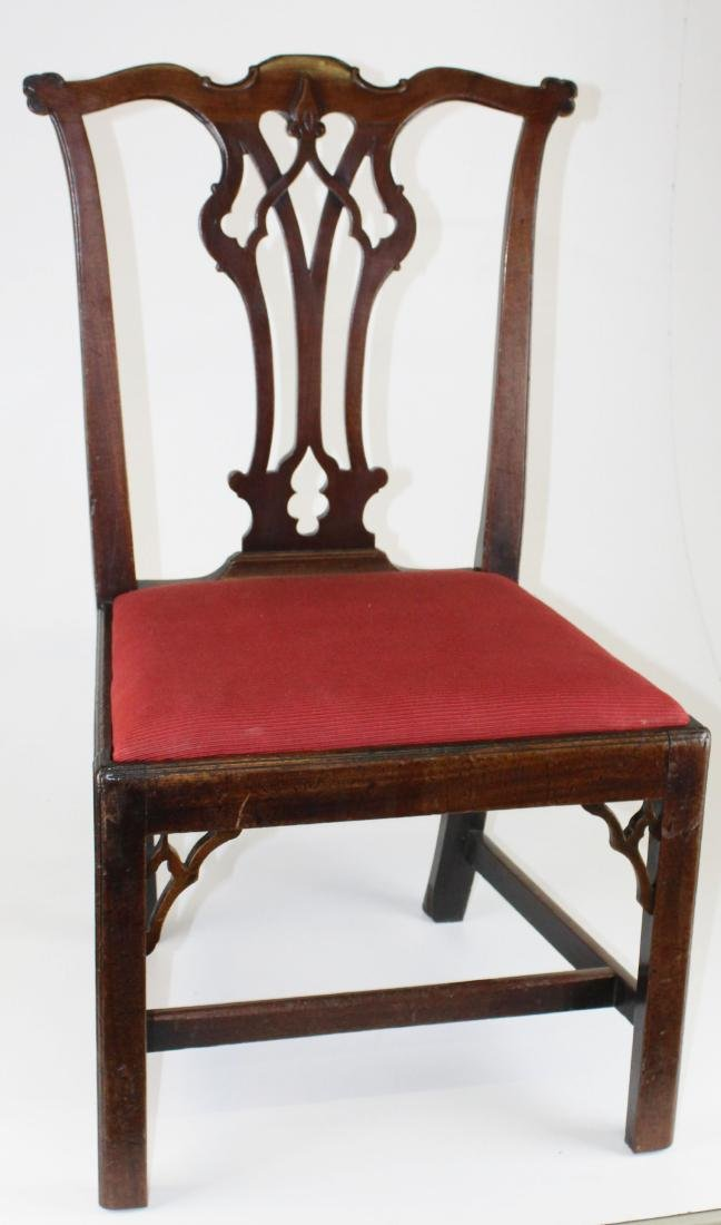 6 18th c. English Chippendale mahogany chairs