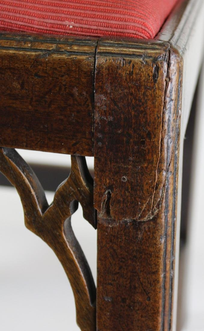 6 18th c. English Chippendale mahogany chairs - 3