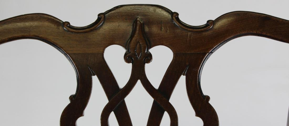6 18th c. English Chippendale mahogany chairs - 4