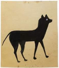 Bill Traylor (AM 1854-1949) Blue Eyed Cat