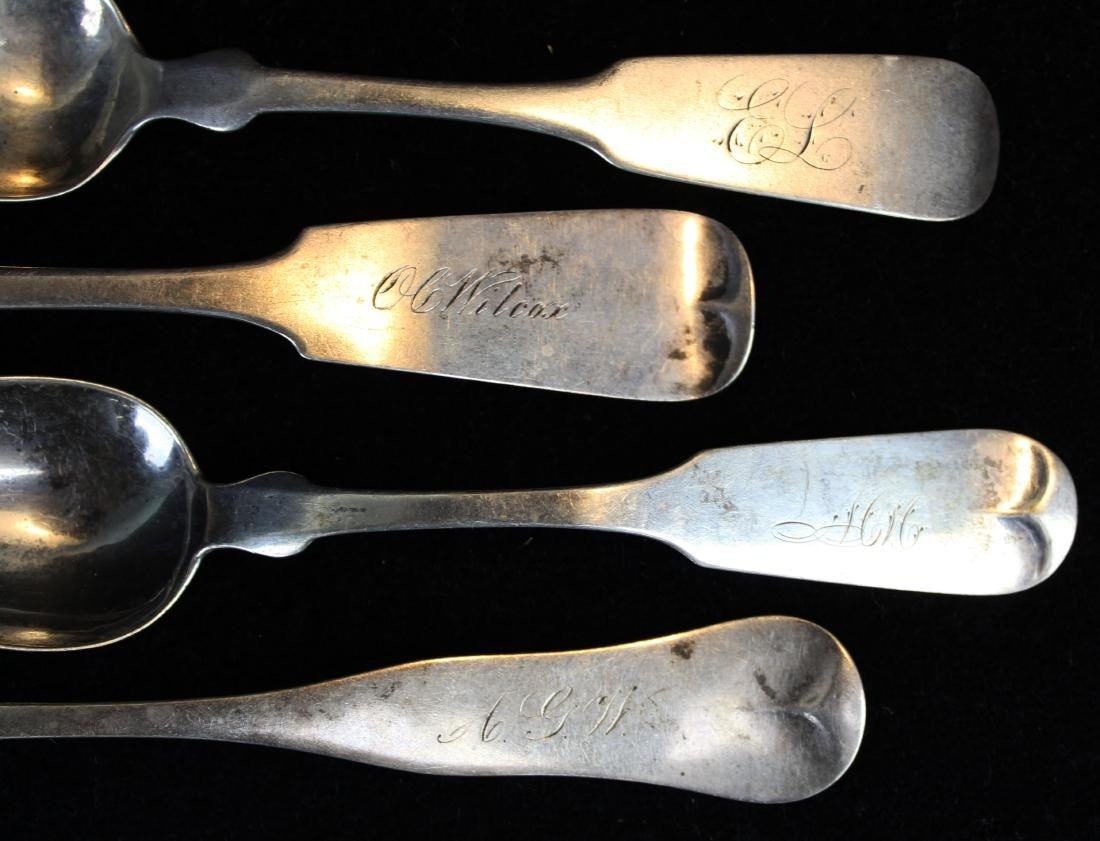 collection of 15 coin and sterling silver spoons - 2