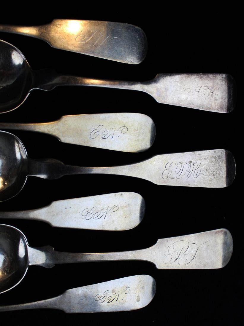 collection of 15 coin and sterling silver spoons - 3
