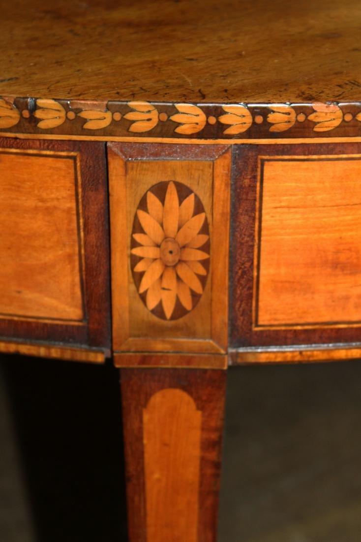 English Geo. III satinwood inlaid console table - 2