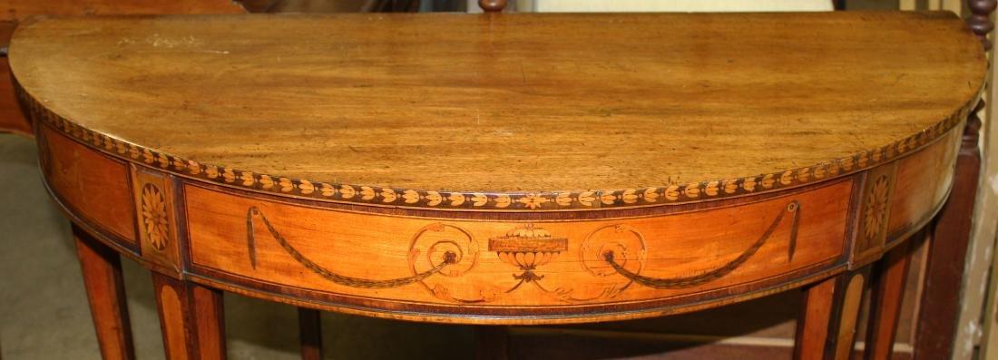 English Geo. III satinwood inlaid console table - 3