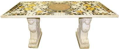 18th c. Italian pietra dura marble top table