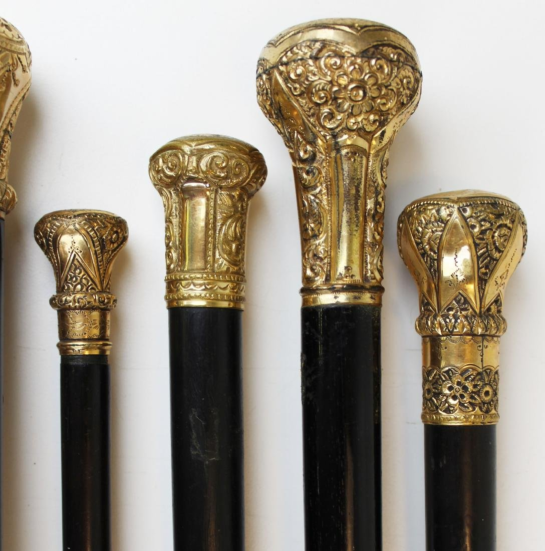 twelve Victorian gold headed canes - 7