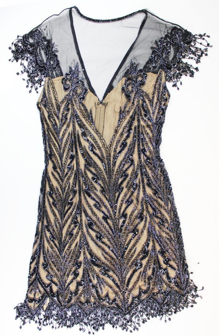 Bob Mackie Boutique beaded silk cocktail dress
