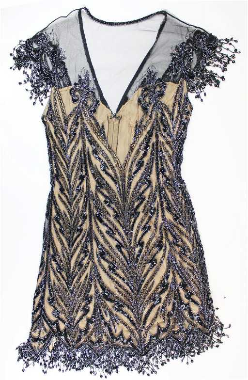Bob Mackie Boutique Beaded Silk Cocktail Dress On Liveauctioneers