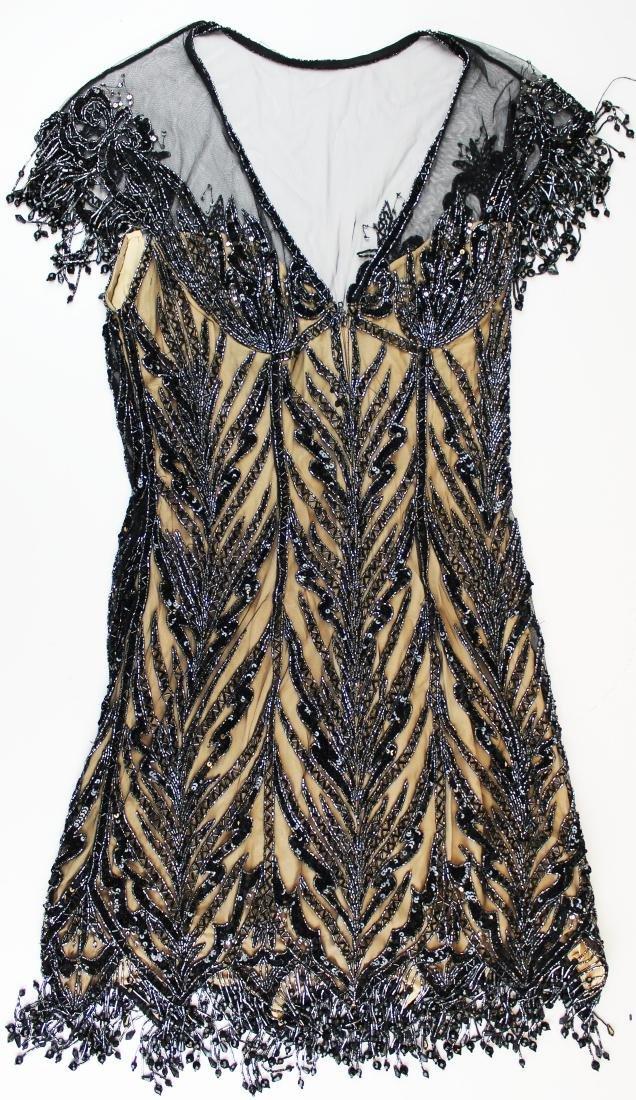 Bob Mackie Boutique beaded silk cocktail dress - 5
