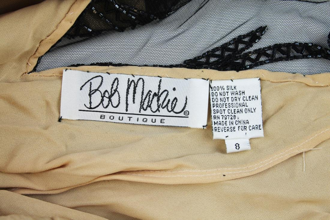 Bob Mackie Boutique beaded silk cocktail dress - 7