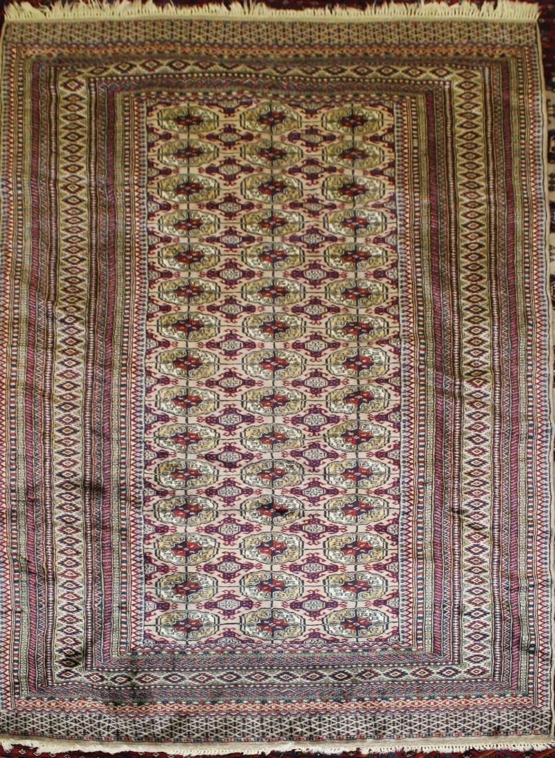 late 20th c Pakistan Bokhara design area rug