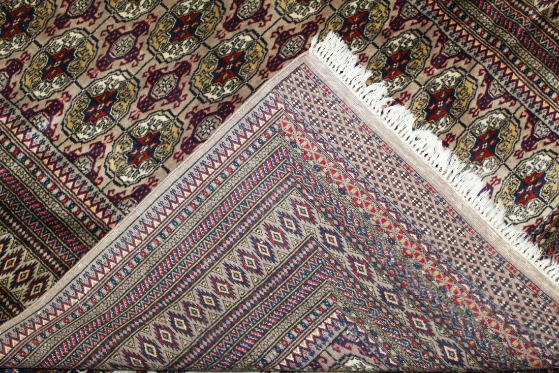late 20th c Pakistan Bokhara design area rug - 4