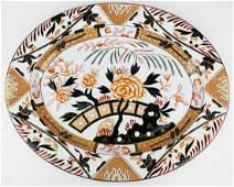 English Ironstone platter with Imari decoration