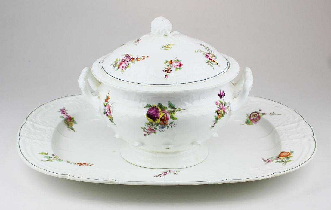 English Swansea porcelain tureen and platter - 2