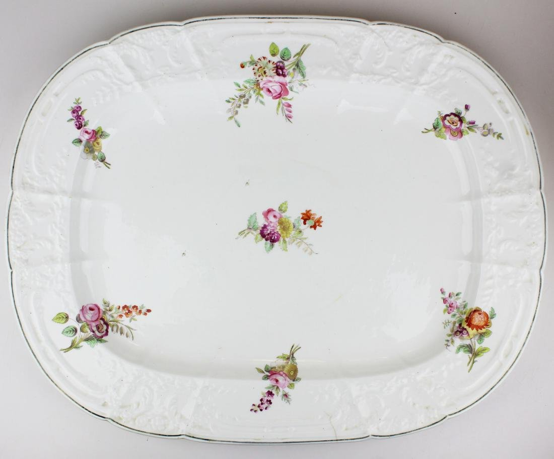 English Swansea porcelain tureen and platter - 3