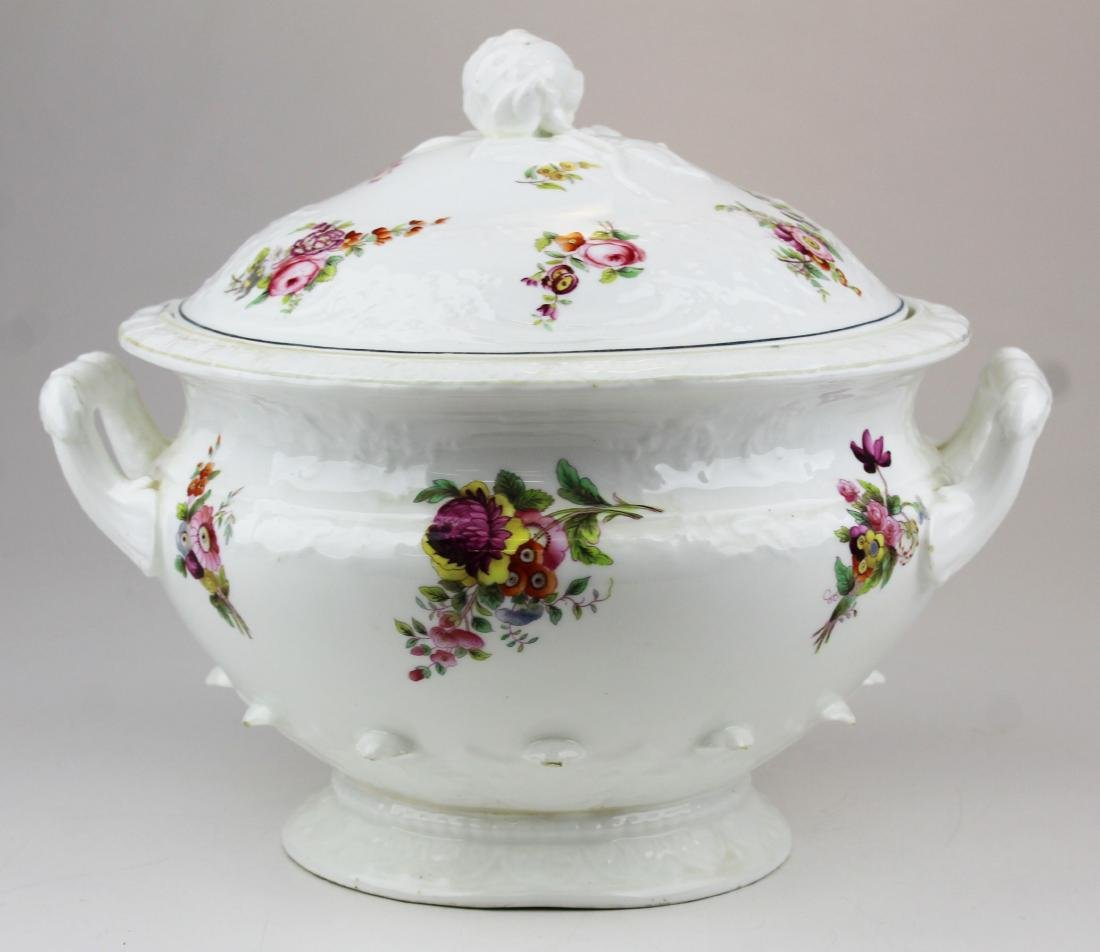 English Swansea porcelain tureen and platter - 5