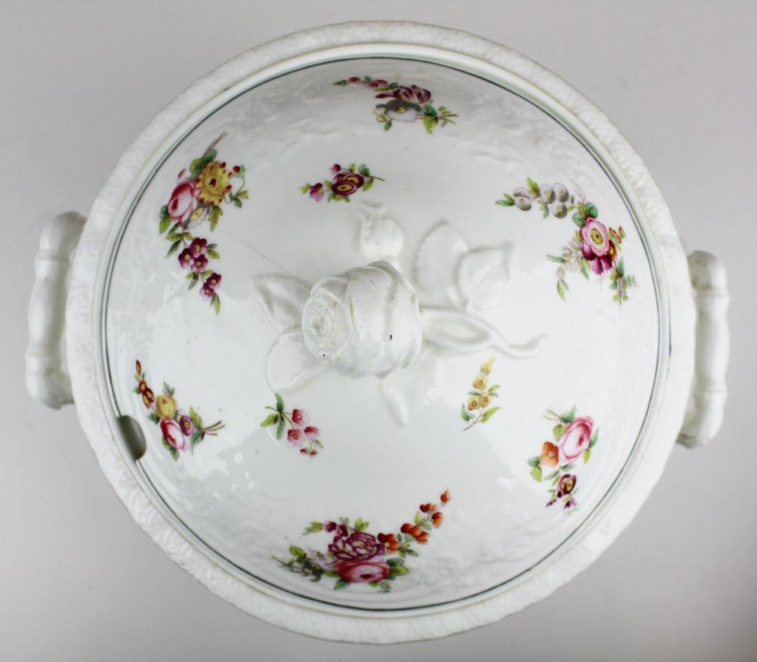 English Swansea porcelain tureen and platter - 7