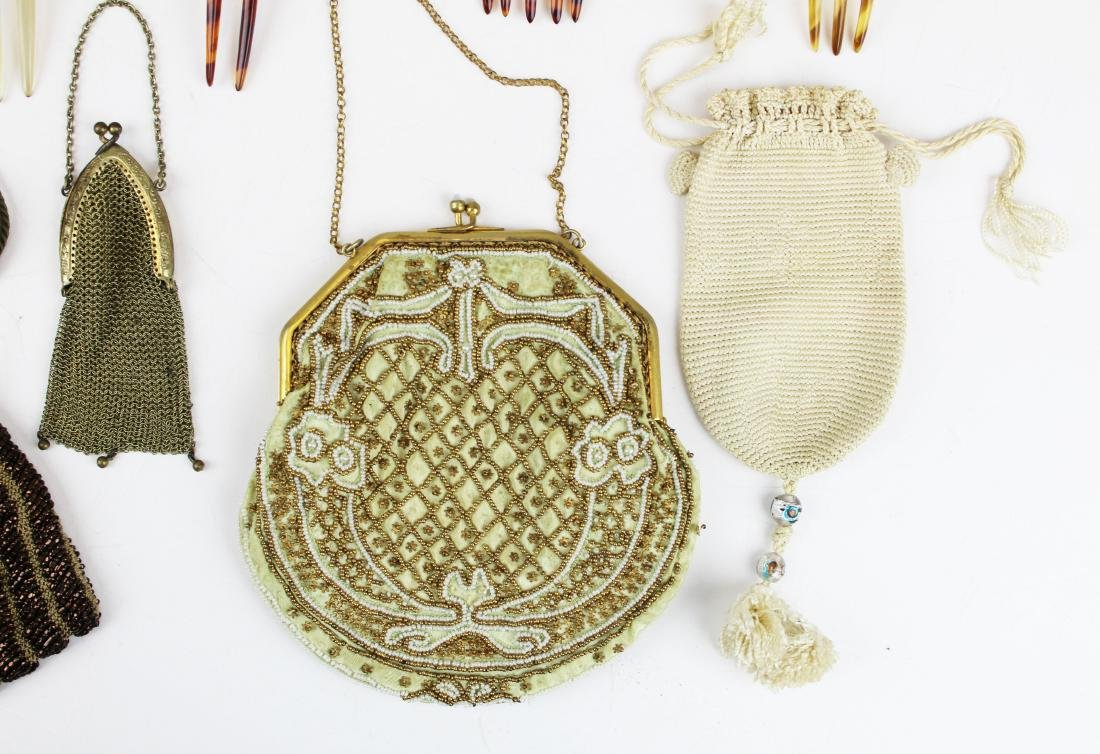 vintage beaded purses & tuck combs - 2