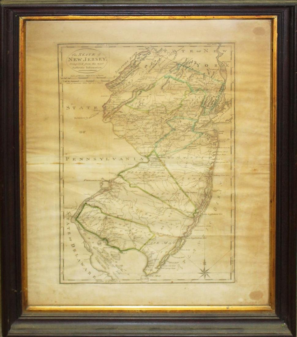 1795 map of the State of New Jersey - 2