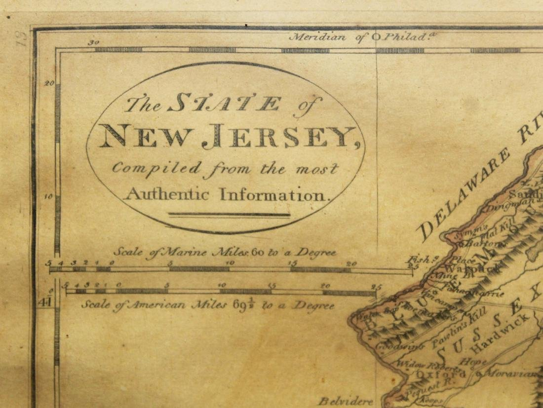 1795 map of the State of New Jersey - 3