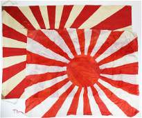 Two Japanese Battle flags