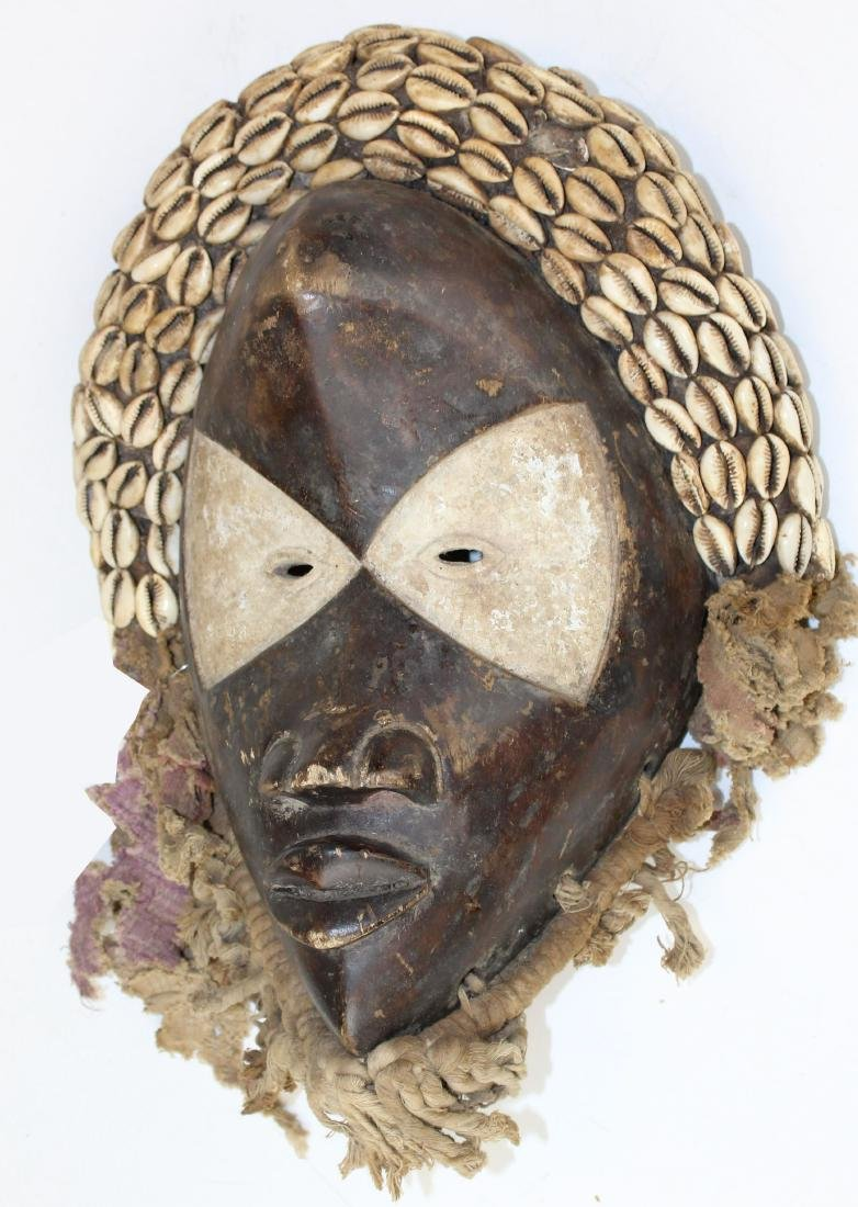 late 19th or early 20th c Lulua Mask