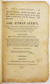 Narrative of the Captivity of Col Ethan Allen