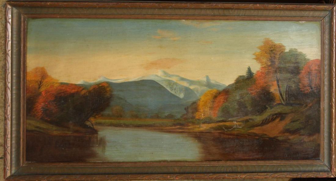 19th c American School landscape with Mount Chocorua