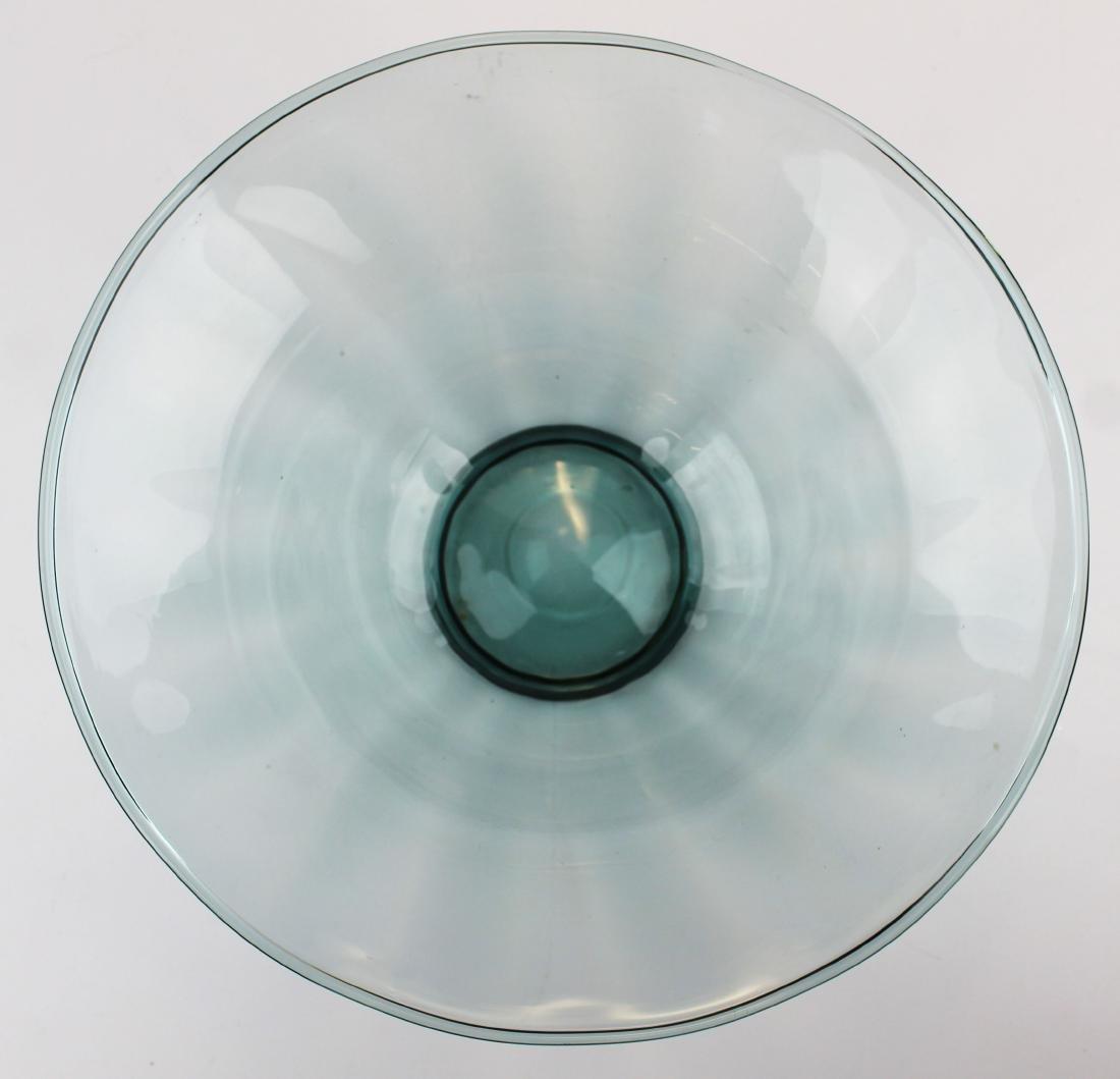 Steuben Carder era blown blue art glass bowl - 2
