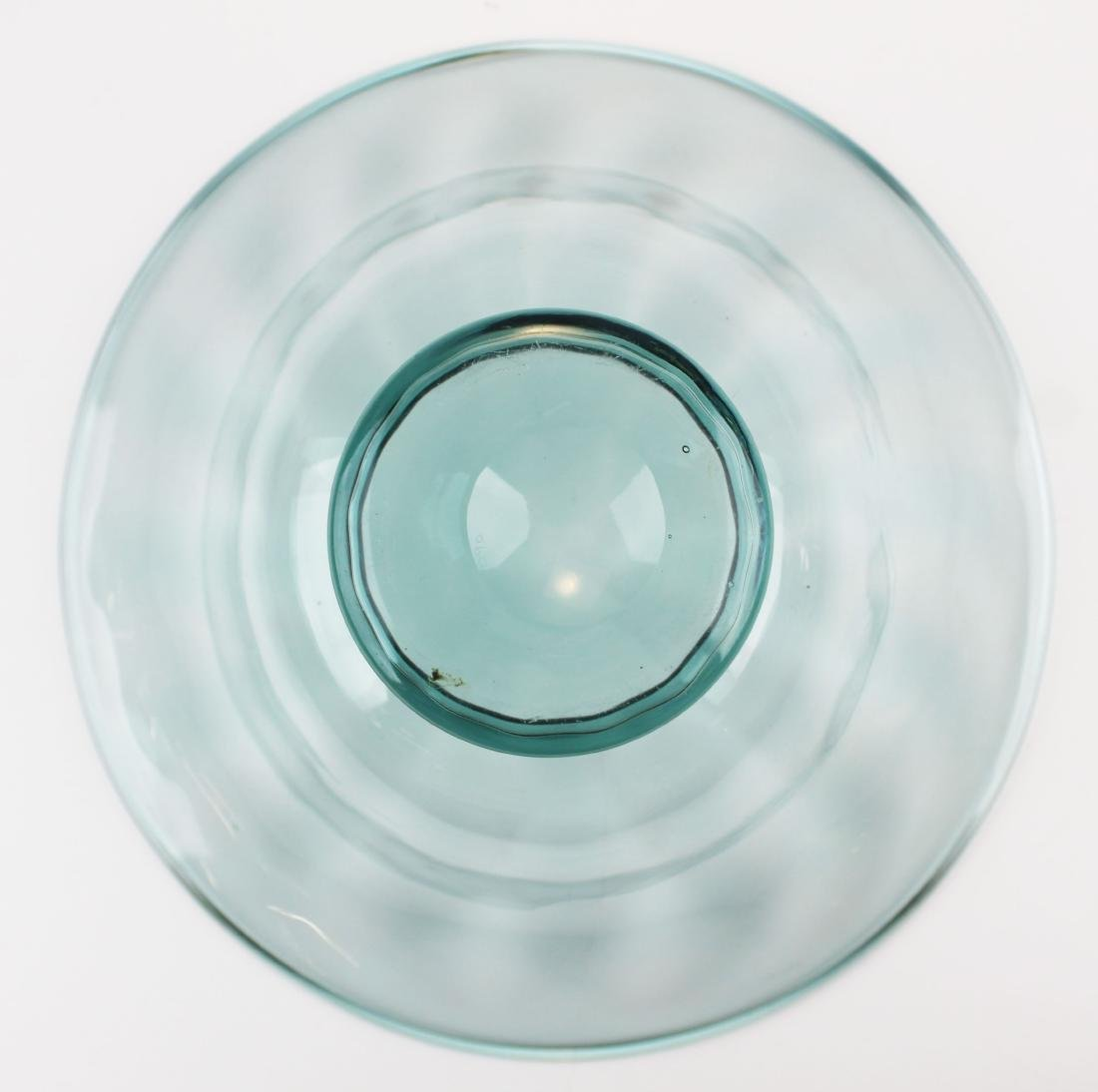 Steuben Carder era blown blue art glass bowl - 4