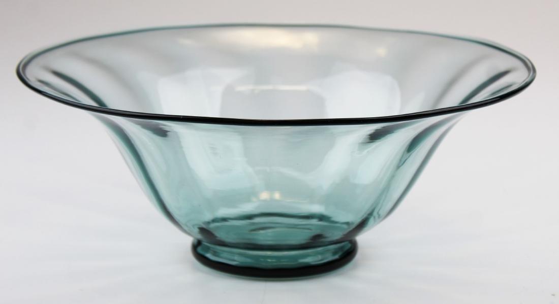 Steuben Carder era blown blue art glass bowl - 5