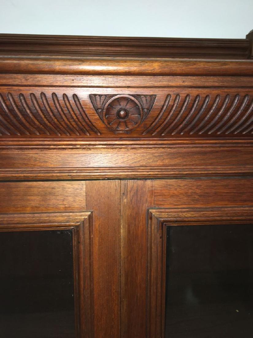 Victorian Eastlake mahogany 2 door bookcase - 3